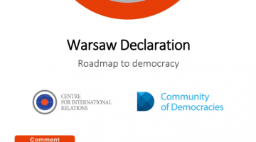 Warsaw Declaration. Roadmap to democracy