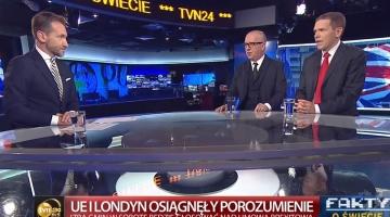 """[17.11.2019] """"Wielka Brytania może iść w kierunku poważnej deregulacji i """"de-europeizacji"""" swojego modelu gospodarczego"""" – dr Bartłomiej Nowak, ekspert CSM, na antenie TVN24"""